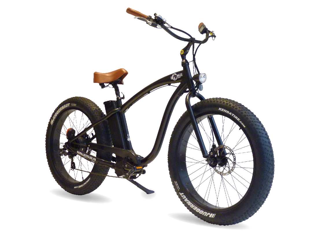 Vélo électrique GORILLE Mâle noir - GaasWatt Marseille