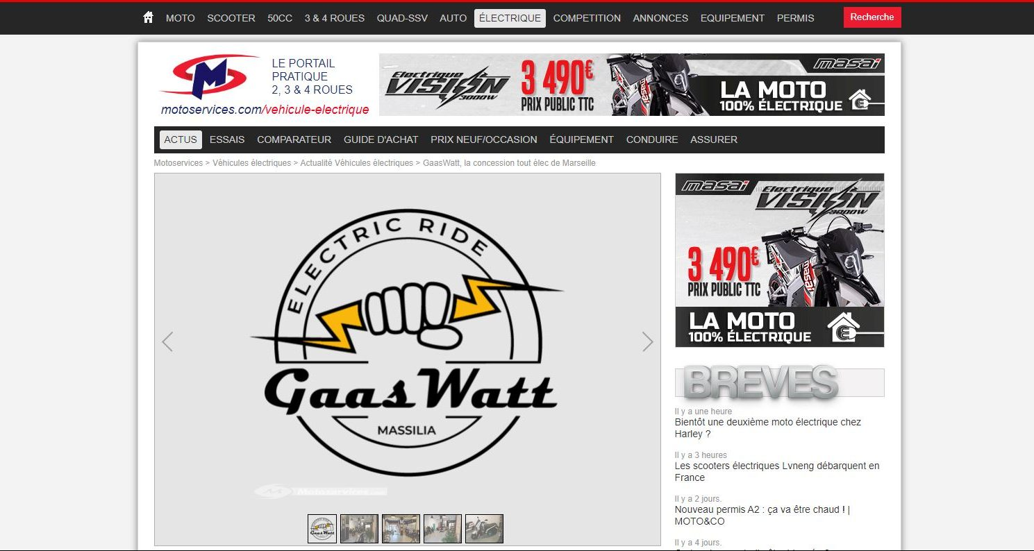 Article Motoservices.com - GaasWatt Marseille