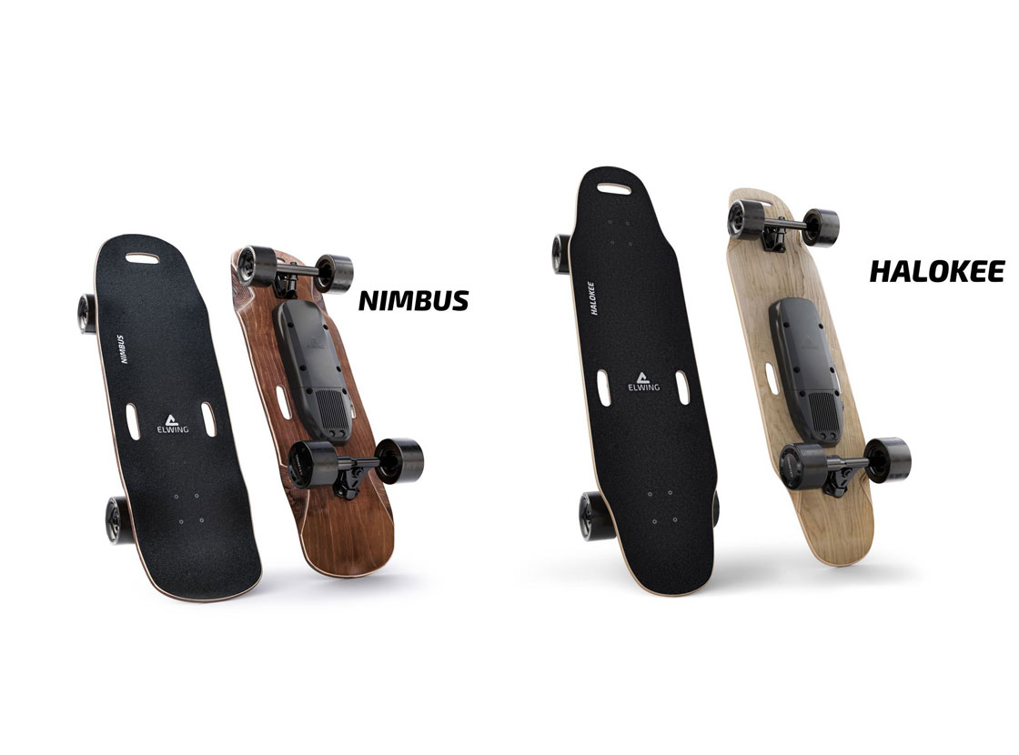 Skateboards et longboards électriques Elwing