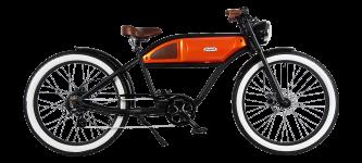 Vélo électrique Michael Blast Greaser noir et orange - GaasWatt Marseille